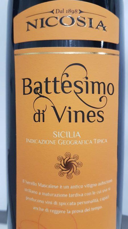 Nicosia 'Battesimo de Vines' IGT Sicily 2009-0