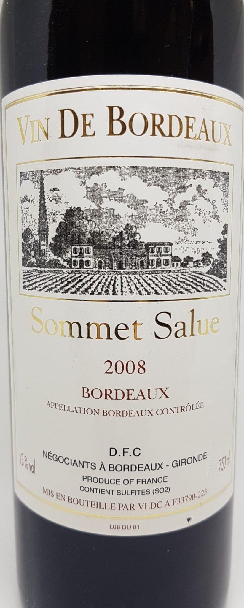 Sommet Salue 2008 AOC Bordeaux-0