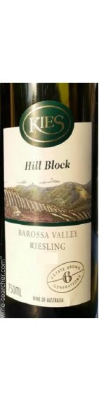Benchmark Wines - Kies Family 'Hill Block' Riesling 2016