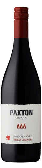 Benchmark Wines offering an Australian Paxton 'AAA' Organic Shiraz-Grenache 2019 with free wine delivery in Sinagapore